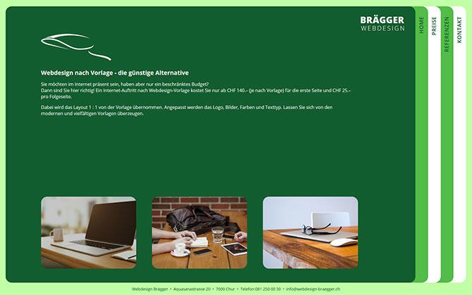 Webdesign nach Vorlage - die günstig Alternative! Ab CHF 180.-